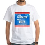 Taxpayer says STOP! White T-Shirt