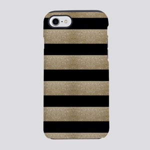 chic black gold stripes iPhone 7 Tough Case
