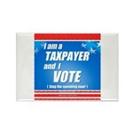 Taxpayer says STOP! Rectangle Magnet (100 pack)