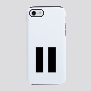 RespectthePause WHITE iPhone 7 Tough Case