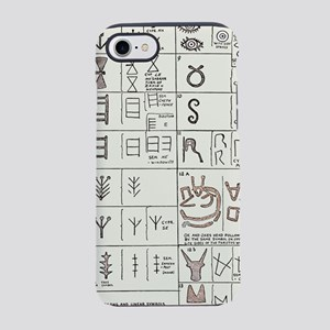 Pictographs and linear script  iPhone 7 Tough Case