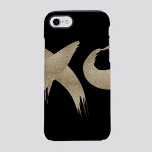 brushstroke black gold XOXO iPhone 7 Tough Case