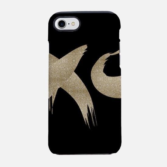 brushstroke black gold XOXO iPhone 7 Tough Case