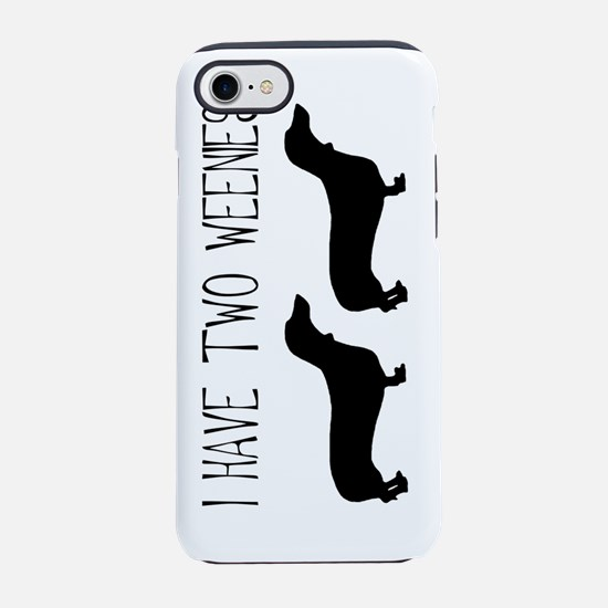 i have two weenies dogs tall.j iPhone 7 Tough Case
