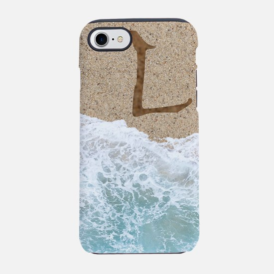 LETTERS IN SAND L iPhone 7 Tough Case