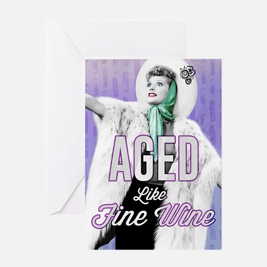 Aged Like Fine Wine Colorful Greeting Card