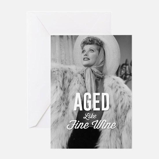 Aged Like Fine Wine Greeting Card