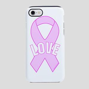 Pink Ribbon Love iPhone 7 Tough Case