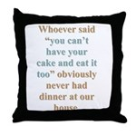 """Our House"" Throw Pillow"