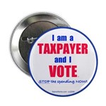 """Taxpayer says STOP! 2.25"""" Button (100 pack)"""
