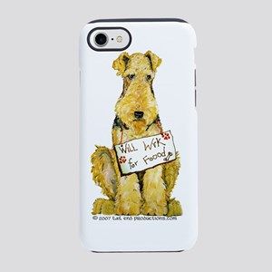 Work for food 6 inches tall fl iPhone 7 Tough Case