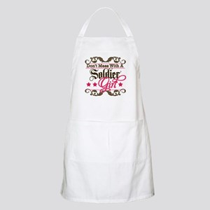 Don't Mess with a Soldier Gir BBQ Apron