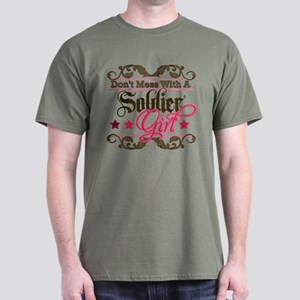 Don't Mess with a Soldier Gir Dark T-Shirt