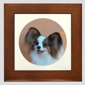 Sable Papillon Head Framed Tile