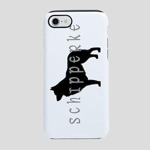 schipperke dog basic text nb.j iPhone 7 Tough Case