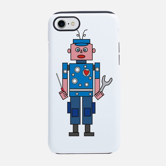 Robot  mechanic iPhone 7 Tough Case