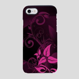 Purple Black Floral (3G) iPhone 7 Tough Case