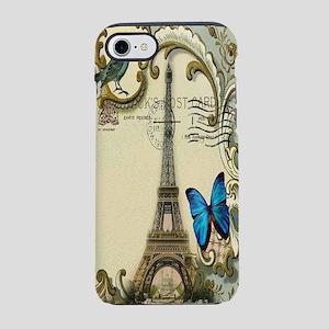 victorian blue butterfly  pari iPhone 7 Tough Case