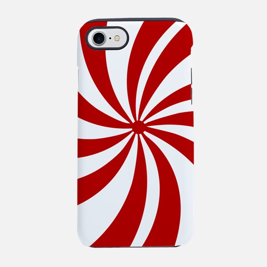 Xmas candy cane swirls iPhone 7 Tough Case