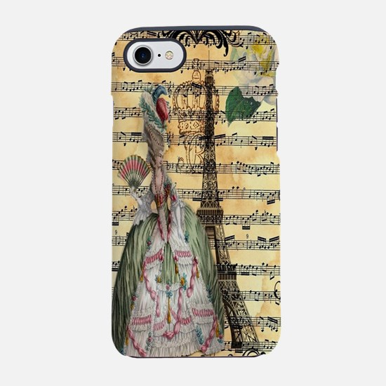 marie antoinette paris eiffel  iPhone 7 Tough Case