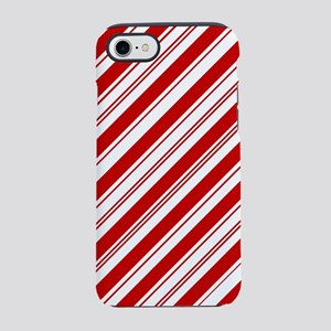 red christmas candy cane iPhone 7 Tough Case