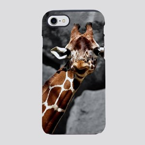 Curious and Cheeky Giraffe iPhone 7 Tough Case