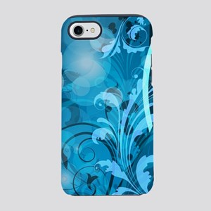 Blue Abstract Floral (3G) iPhone 7 Tough Case