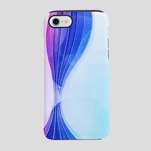 Pink Blue Wave (3G) iPhone 7 Tough Case