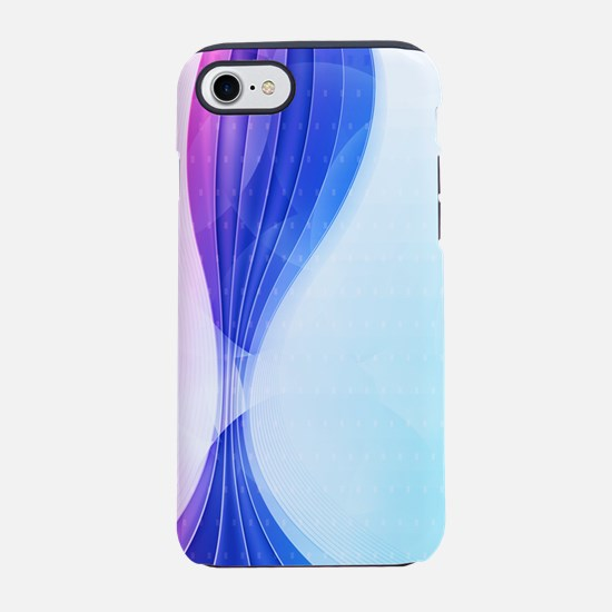 Pink Blue Wave (3G).png iPhone 7 Tough Case