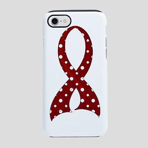 -Sickle Cell Anemia Polka Dot  iPhone 7 Tough Case