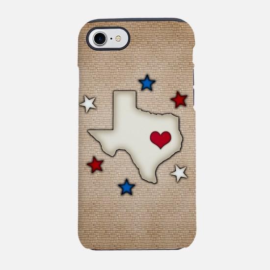 Texas Red Heart iPhone 7 Tough Case