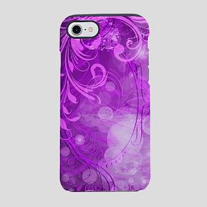 Bright Purple Floral (3G) iPhone 7 Tough Case