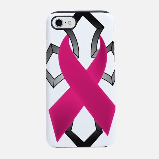 Breast Cancer Ribbon Wrapped A iPhone 7 Tough Case