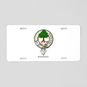 Anderson Clan Badge Aluminum License Plate