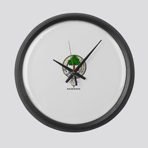 Anderson Clan Badge Large Wall Clock