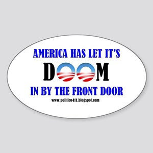 America's Doom Oval Sticker