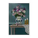 Victorian Floral Still Life Mini Poster Print