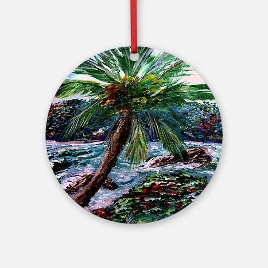 """""""Maui Palm"""" Ornament (Round)"""