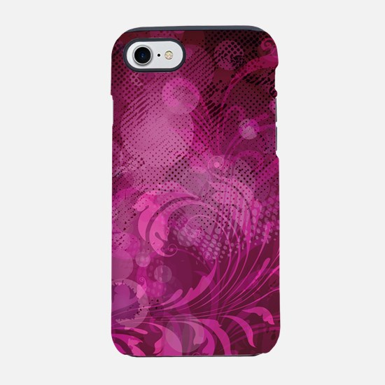Bright Pink Floral (3G).png iPhone 7 Tough Case