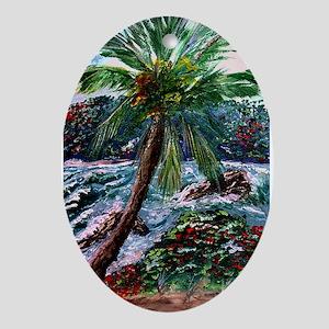 """""""Maui Palm"""" Oval Ornament"""
