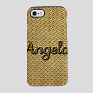 Etched Name  Brass Plate Graph iPhone 7 Tough Case