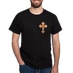 Floral Cross Black T-Shirt
