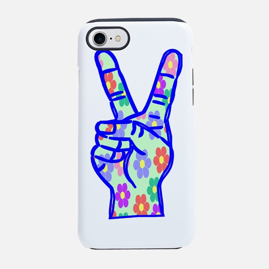 peace and flowers.png iPhone 7 Tough Case