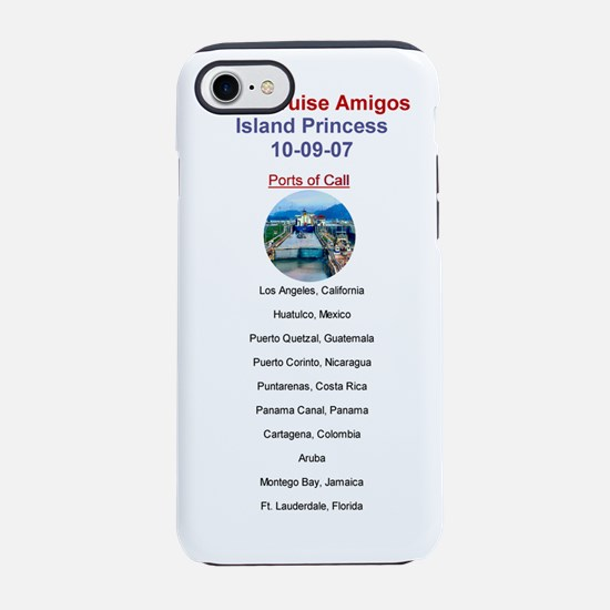 Island Princess - Canal Cruise iPhone 7 Tough Case