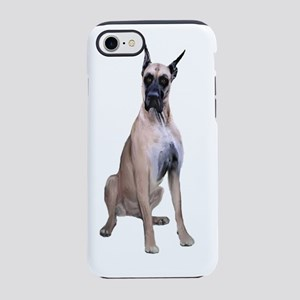 Great Dane (fawn sit) iPhone 7 Tough Case