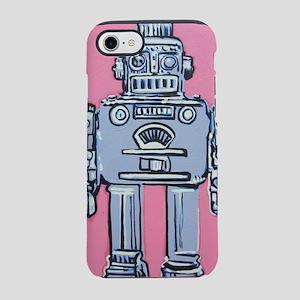Grey Robot iPhone 7 Tough Case