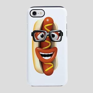3d-hotdog-glasses iPhone 7 Tough Case