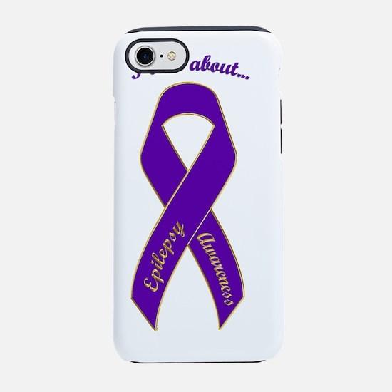 I Care About - Epilepsy Awaren iPhone 7 Tough Case