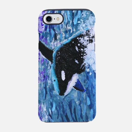 Killer Whale Painting iPhone 7 Tough Case