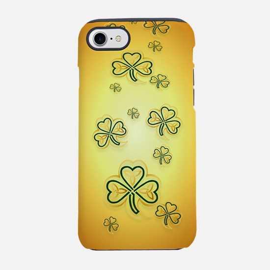 iPod TouchGold and Green Shamr iPhone 7 Tough Case